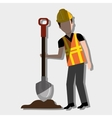 construction worker design vector image vector image