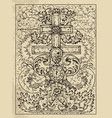 cross mystic concept for lenormand oracle tarot vector image vector image
