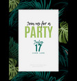 dark tropical design with exotic monstera and vector image