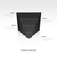 design pyramid infographic template black color vector image vector image