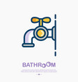 faucet thin line icon with water drop vector image