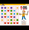 fill pattern educational game for children vector image vector image