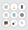 flat icon games set of xo backgammon bones game vector image vector image