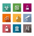 Flat science and education icons set vector image vector image