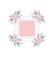 floral vignette in form a rectangle vector image vector image