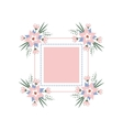 floral vignette in the form of a rectangle vector image vector image