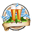 for a beer festival vector image