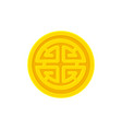 golden coin with chinese prosperity symbol lu vector image vector image