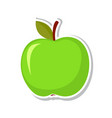 green apple sweet fruit isolated fruit on white vector image vector image