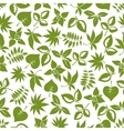 green leaves retro seamless pattern vector image vector image