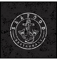 grunge anchor with fish tails seafood restaurant vector image