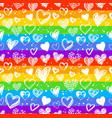 hand drawn valentine grunge hearts pattern vector image vector image