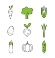 Healthy food card vegetables vegetarians eco vector image vector image