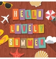 Hello lovely summer travelling background vector image vector image