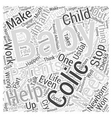 Help For Colic Word Cloud Concept vector image vector image