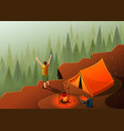 hiking freedom isometric composition vector image vector image