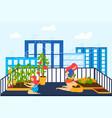 house balcony garden cartoon