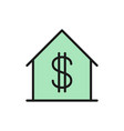 house with dollar sign sale apartment flat vector image vector image