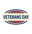 isolated retro veteran day label vector image vector image