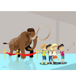 kids in museum children make selfie vector image vector image