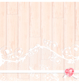lace frame with crystal heart vector image vector image