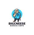 logo aussie cop mascot cartoon style vector image