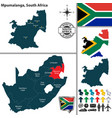 map of mpumalanga south africa vector image vector image
