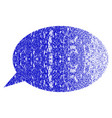 message cloud grunge textured icon vector image vector image