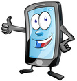 mobile phone cartoon vector image vector image