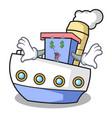 money eye ship mascot cartoon style vector image vector image