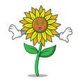 money eye sunflower mascot cartoon style vector image vector image