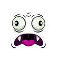 monster face isolated icon surprised emoji vector image vector image