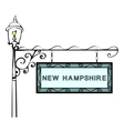 New Hampshire retro pointer lamppost vector image