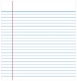 Paper notebook for note taking vector image