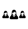 people icon male group of persons symbol avatar vector image