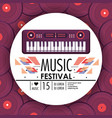 piano instrument to music festival celebration vector image vector image