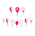 Points on the map vector image
