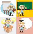 Professor Characters vector image vector image