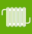 radiator icon green vector image vector image