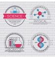 Science set label template of emblem element for vector image vector image