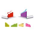 set economic chart or economic infographics vector image