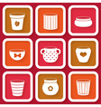 Set of 9 different icons with flower pots vector image vector image