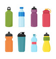set of bicycle plastic bottle vector image