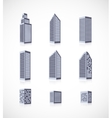 Set of buildings icons vector image vector image