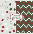 set of christmas pattern backgrounds vector image