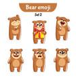 set of cute bear characters 2