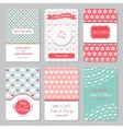 Set of perfect wedding templates with pattern vector image vector image