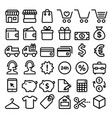 shopping line icons set buying online store vector image vector image