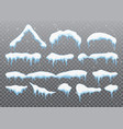 snow caps snowballs and snowdrifts set snow cap vector image vector image