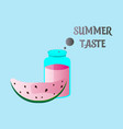summer time banner design with white circle for vector image